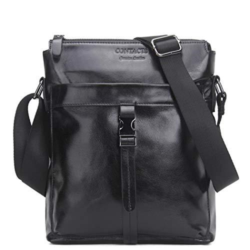 handle Deep Coffee Size Bag One Black Mangetal Color Top Men's TBwfxxO