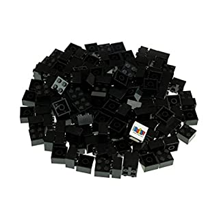 Strictly Briks Classic Bricks 144 Piece 2x2 Black Building Brick Creative Play Set - 100% Compatible with All Major Brick Brands