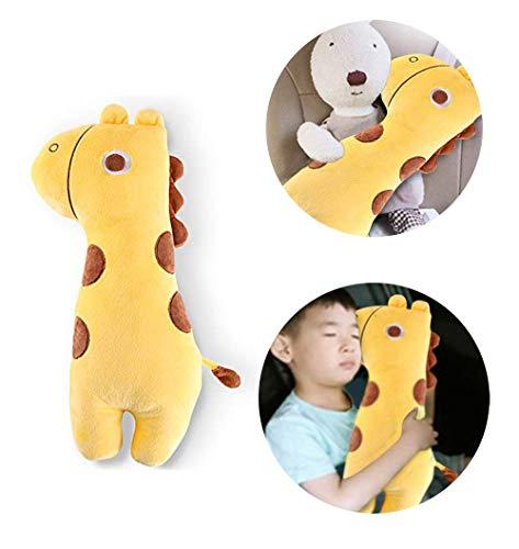Apomelo Cute Giraffe Car Seat Belt Pillow for Kids,Adjustable Strap Shoulder Pads Neck Support Pillow Seatbelt Buddy,Big-Eyes Giraffe