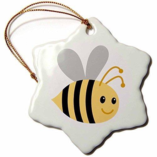 Delia32Agnes Cute Cartoon Bumble Bee - Christmas Ornaments Funny Novelty Porcelain Hanging]()