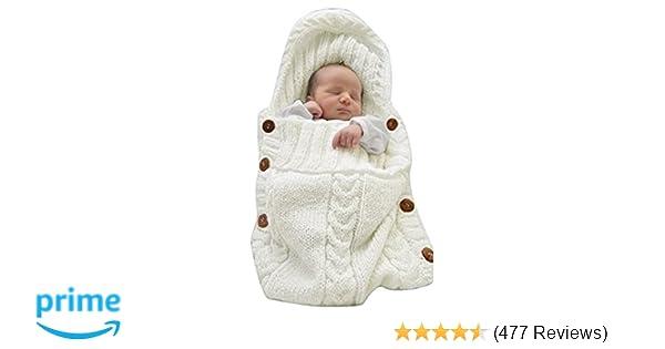 0b7ed3c25 Amazon.com  XMWEALTHY Newborn Baby Wrap Swaddle Blanket Knit ...