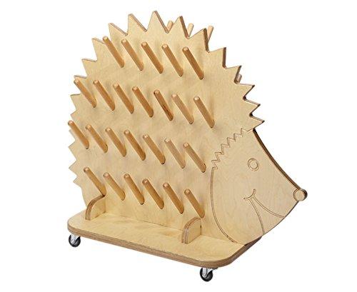 Mobiler Stiefeligel aus Holz mit Rollen, Platz für 25 Paar Schuhe, Kindergarten, Kinderschuhe, Kinderkrippe, Aufbewahrung