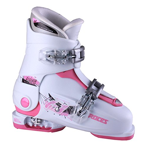 stable White/Deep Pink Kids Ski Boots 19.0-22.0 (Adjustable Kids Ski Boots)
