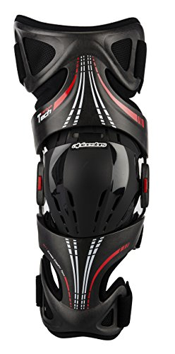 Alpinestars Fluid Tech Carbon Knee Brace - Sm/Lg , Size: Sm-Lg, Distinct Name: Black, Gender: Mens/Unisex, Primary Color: Black 6500314-1430-SM by Alpinestars