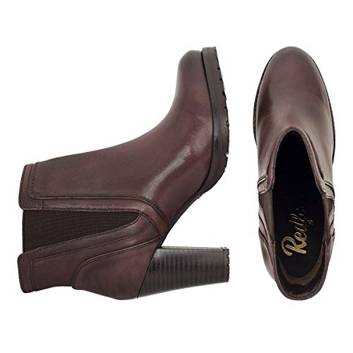 Ladies Gusset Scoop Redfoot Boot Ankle Brown zOwqnUx