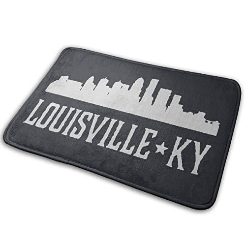 LNUO-2 Indoor Outdoor Welcome Doormat Louisville Kentucky Skyline KY Cities Rug Floor Mats for Entry, Shoe Rugs ()