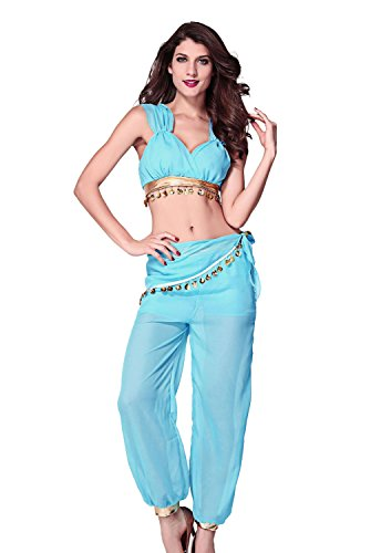DarlingLove Women's Two Pieces Genie Adult Costume