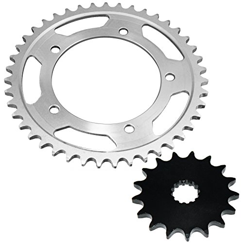 Caltric Front & Rear SPROCKETS Fits SUZUKI GSX-R1000 GSXR1000 GSXR-1000 2001-2008 *for 525 - Chain Suzuki Gsxr1000
