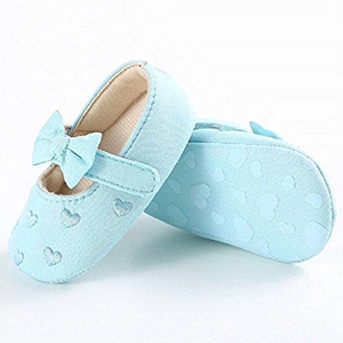 Zapatos de bebé,Auxma Zapatos de lona únicos suaves antideslizantes de la zapatilla de deporte de los zapatos de lona del nudo del arco del bebé para 0-18 meses Verde