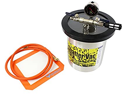 Shatter Vac 1 5 Gallon Vacuum Chamber and 3 CFM Single Stage Vacuum Pump Kit