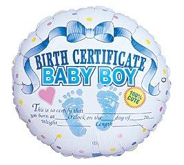 Blue Birth Certificate Baby Boy 18