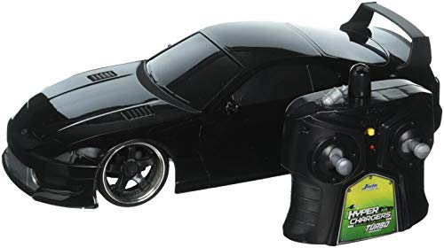 Jada Toys HyperChargers 2.4Ghz Radio Remote Control Car 1/16 JDM Tuners 1995 Toyota Supra RTR (Black)