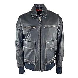 Diesel Mens L-Boom Leather Jacket
