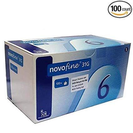 NovoFine Pen Needles 32G tip x 6mm 100ct