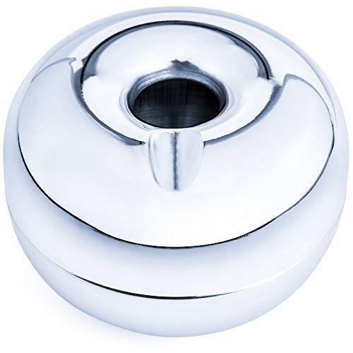 Tircuger Stainless Steel Ashtray for Cigarettes Windproof Apple Style for Indoor or Outdoor Ashtrays Home Decor (Small)