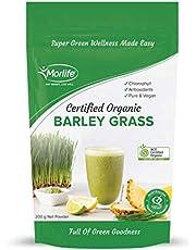 Morlife Barley Grass Powder (Certified Organic), 200 grams