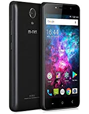 m-net Power 1 3g Telefoni Cellulari con 5050mAh, OTG, Android 7.0, Dual SIM, 5.0 Pollici HD IPS, Quad Core MTK6580, RAM 1GB + 8GB ROM, 5MP, Doppio Flash, Smartphone Per Bluetoth, GPS, WIFI