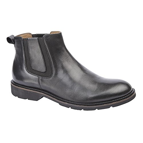 Black Leather Twin Boots Mens Flexmaster Ankle Gusset Roamers x1qO0PngO