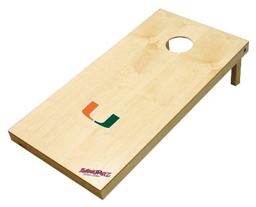 Wild Sports NCAA College Miami Hurricanes 2' x 4' Authentic Cornhole Game Set