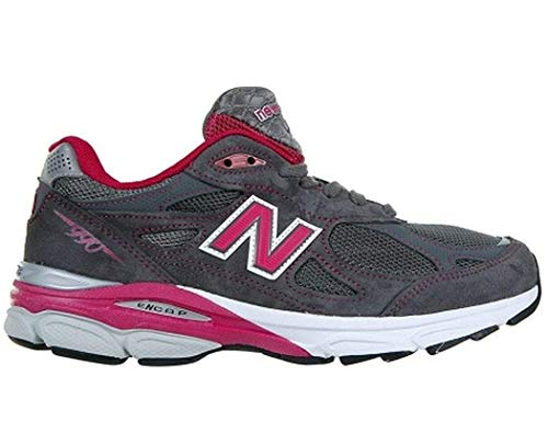 New Balance Women's 990V3 Running Shoe (9 M US, Grey/Purple)