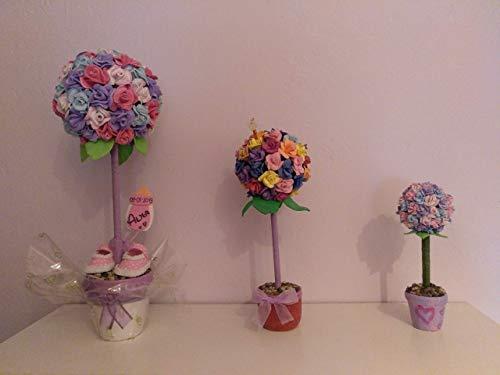 Topiario Artificial De Rosas En Goma Eva Para Decoración