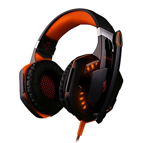 Gaming Headset Mindkoo Blitz LED Over-Ear Kopfhörer Stereo PC mit Mikrofon, USB und 3.5mm Anschluss