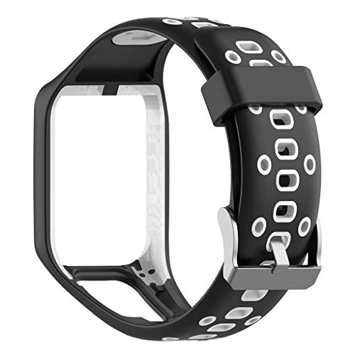 VICCKI for Tomtom Runner 2/3 Spark/3 Sport Replacement Silicone Watch Strap Watch