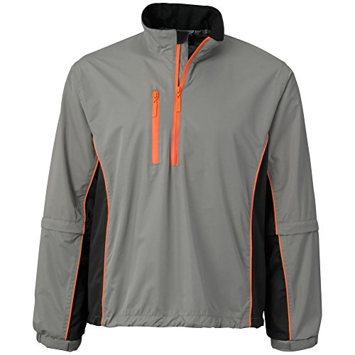 The Weather Company Mens Microfiber Rain Shirt Grey/Black L