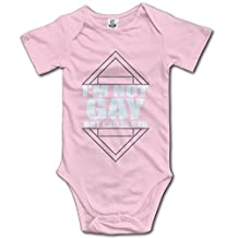 Baby 100% Cotton Short Sleeve Onesies Toddler Bodysuit IM NOT GAY Climbing Clothes