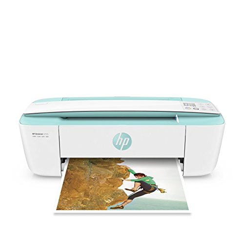 HP DeskJet 3755 Compact All-in-One Wireless Printer with Mobile Printing, HP Instant Ink & Amazon Dash Replenishment ready – Seagrass Accent (J9V92A) (Renewed)