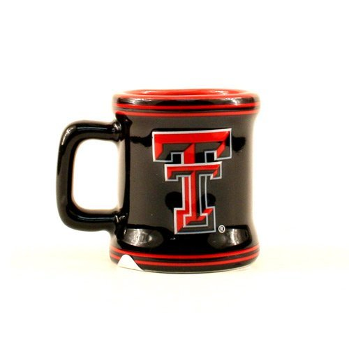 Texas Tech Red Raiders NCAA Licensed Sculpted Ceramic Mini Mug Style Shot Glass (2 Oz.)