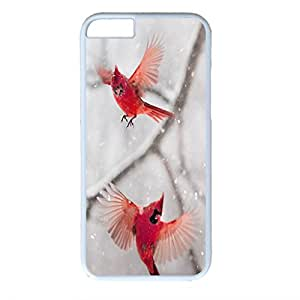iPhone 6 case ,fashion durable white side design phone case, pc material phone cover ,with Northern Cardinal.