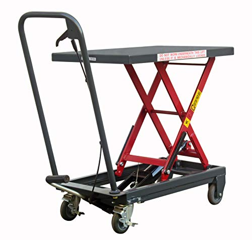 Pake Handling Tools Hydraulic Manual Scissor Lift Table - Sturdy and Durable Everyday Use Lift Table 500lbs/1000lbs Capacity