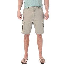 Wrangler Men's Big & Tall Cargo Shorts (46, Dark Grey)