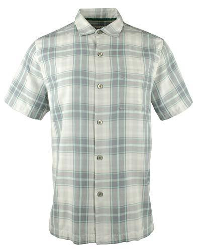 (Tommy Bahama Men's Zamora Plaid Silk Camp Shirt-BS-L)