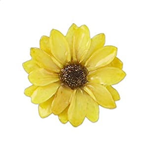 NOVICA 24k Gold Plated Natural Aster Brooch, Aster Delight in Yellow' 48