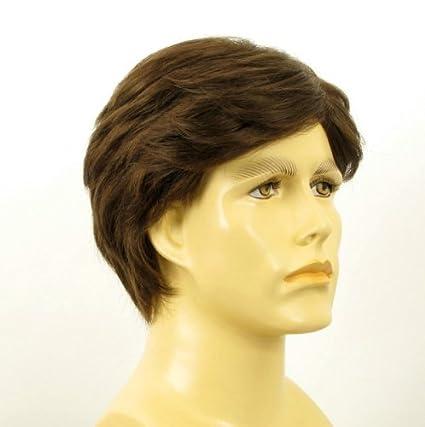 Peluca hombre cabello 100% natural castaña BERNARD 8