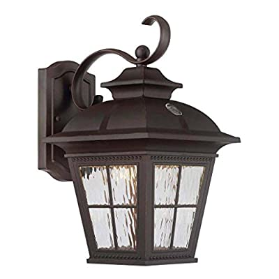 Altair Energy Saving LED Lantern - Brushed Patina Finsh with Clear Water Glass