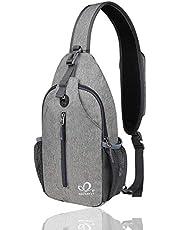 WATERFLY Sling Rucksack Sling Bag Schulterrucksack, Umhängetasche Verstellbarer Rucksackgurt Wandern Brust Rucksack für Herren und Damen