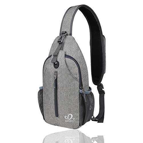 Waterfly Crossbody Sling Backpack Sling Bag Travel Hiking Chest Bags Daypack (Best Sling Backpack For Hiking)