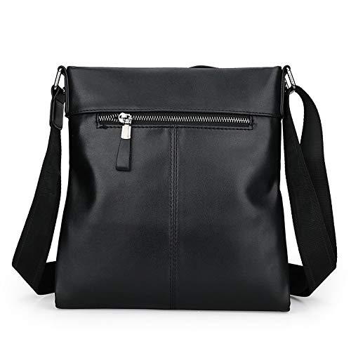 1 da a Wjz nero morbida moda pelle in tracolla Borsa pacchetto uomo Borsa nero diagonale casual 5RIIxq6H