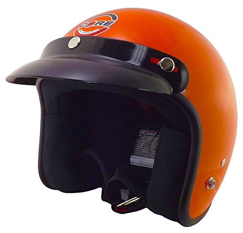 Core Helmets Hunter Safety Deluxe Open-Face Helmet (Orange, (Dot 3/4 Helmet)