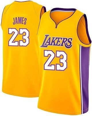 NBA Lebron James, NO.23 Lakers Retro, Camiseta de Jugador de Básquetbol, Bordado Transpirable y Resistente al Desgaste Camiseta de Fan de Hombres