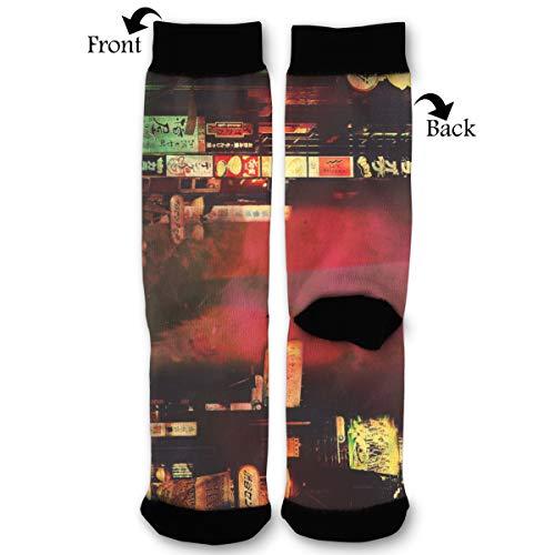 Fashion Travel Breathable Socks Shibuya Station Photography Tokyo Japan Signs Street Men & Women Running Casual Socks ()