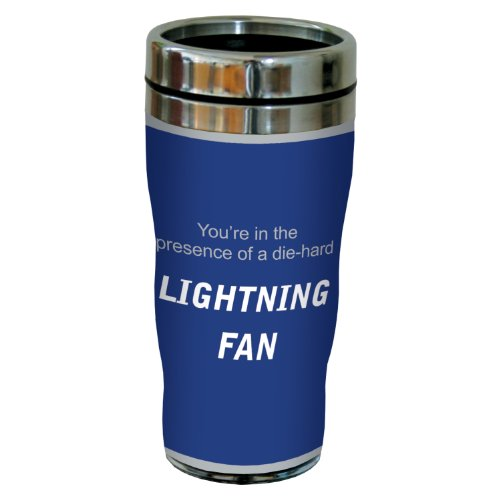 (Tree-Free Greetings sg24195 Lightning Hockey Fan Sip 'N Go Stainless Steel Lined Travel Tumbler, 16-Ounce)