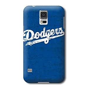 S5 Case, MLB - Los Angeles Dodgers- Alternate Solid Distressed - Samsung Galaxy S5 Case - High Quality PC Case