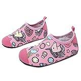 L-RUN Child Outdoor Sports Barefoot Aqua Socks Girls Swim Shoes Pink 6-7=EU22-23