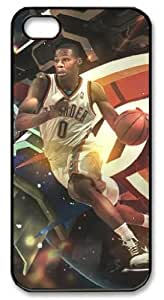 LZHCASE Personalized Protective Case for iPhone 5 - Russell Westbrook, NBA Oklahoma City Thunder #0
