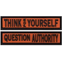 Think for Yourself Combat Flip Flops PATCH SET
