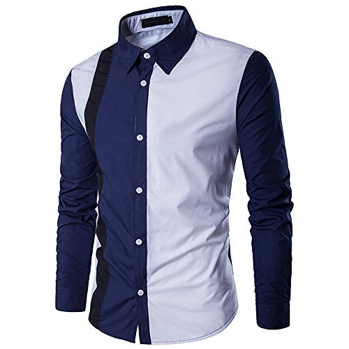 Sleeve Autumn Outwear Coat Long Men's White Stripe Blouse Solid TEBAISE Jacket Knit Winter 1zqvRw